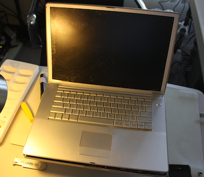 data recovery on powerbook g4 run over by car