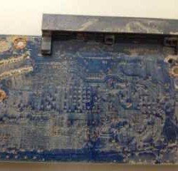 Water submerged hard drive's PCB