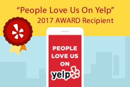 People Love Us On Yelp - 2017 Award