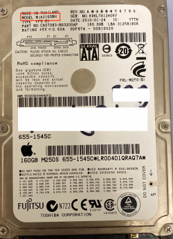 fujitsu hard drive model number
