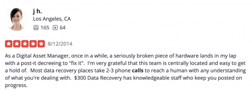 yelp review about phone calls