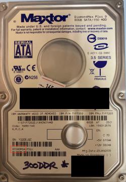 Maxtor hard drive model number