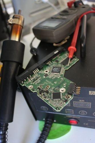 Hard drive's PCB and PCB repair tools. Software Data Recovery Myth