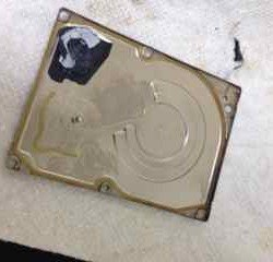 Fire Damaged Hard Drive
