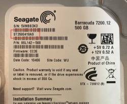 seagate hard drive model number