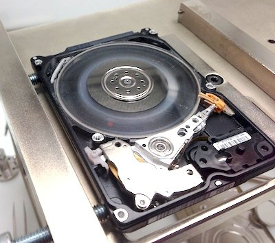 damaged hard drive - platter damage - bad heads